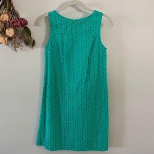 Merona Eyelet Shift Dress Mint Size XS LIKE NEW
